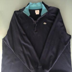 Men's Lacoste pullover 1/4 zip blue